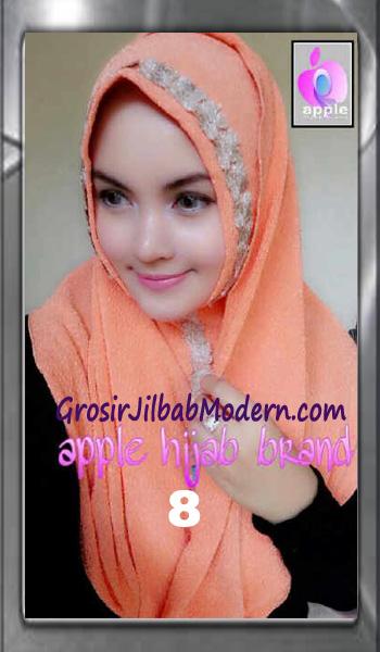 Jilbab Pashmina Instant Esme Praktis by Apple Hijab Brand No 8 Soft Orange