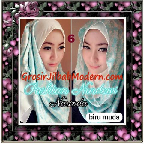 Jilbab Pashmina Instant Nurdewi Original by Narinda No 6 Biru Muda