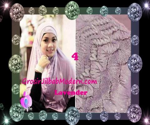 Jilbab Syar'i Exclusive Khadijah by Apple Hijab Brand No 4 Lavender