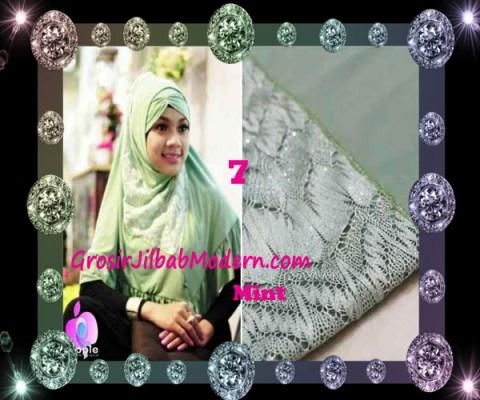 Jilbab Syar'i Exclusive Khadijah by Apple Hijab Brand No 7 Mint