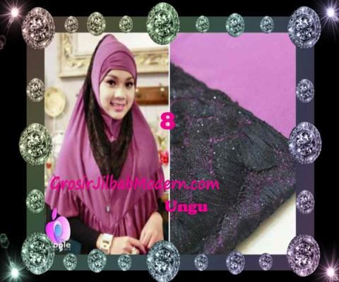 Jilbab Syar'i Exclusive Khadijah by Apple Hijab Brand No 8 Ungu