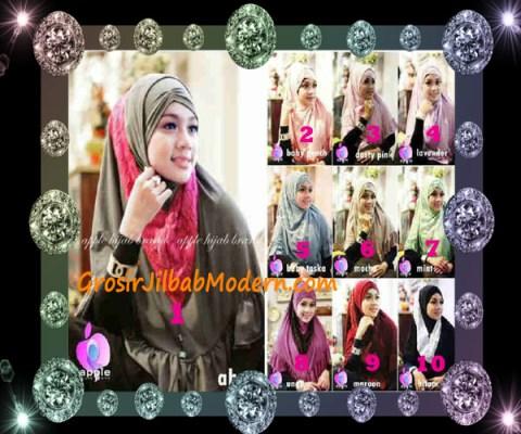 Jilbab Syar'i Exclusive Khadijah by Apple Hijab Brand Series