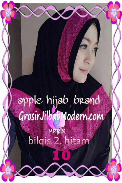 Jilbab Syria Bilqis Seri 2 Modis by Apple Hijab Brand No 10 Hitam