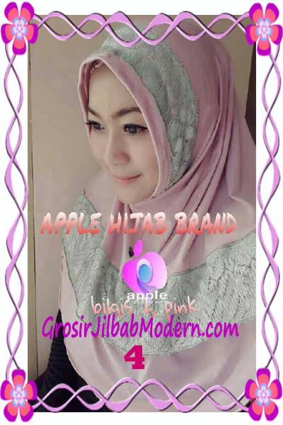 Jilbab Syria Bilqis Seri 2 Modis by Apple Hijab Brand No 4 Pink