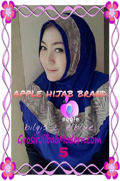 Jilbab Syria Bilqis Seri 2 Modis by Apple Hijab Brand No 5 Elektrik Blue