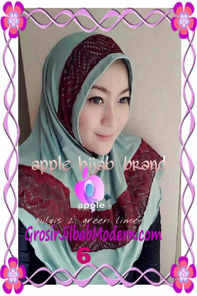 Jilbab Syria Bilqis Seri 2 Modis by Apple Hijab Brand No 6 Green