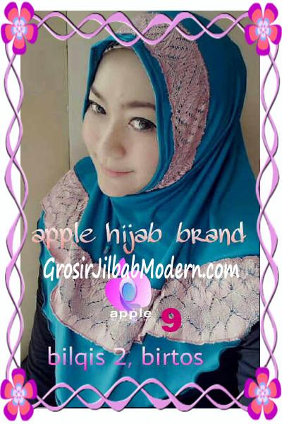 Jilbab Syria Bilqis Seri 2 Modis by Apple Hijab Brand No 9 Biru Toska