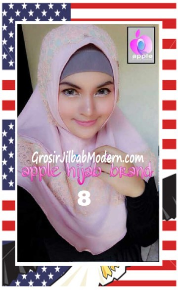 Jilbab Syria Bilqis Stylish dan Syar'i by Apple Hijab Brand No 8 Dusty Pink