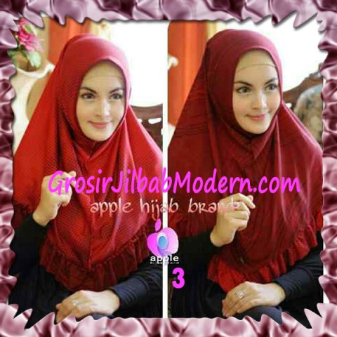 Jilbab Syria Bolak Balik Abstrak Cantik by Apple Hijab Brand No 3 Marun
