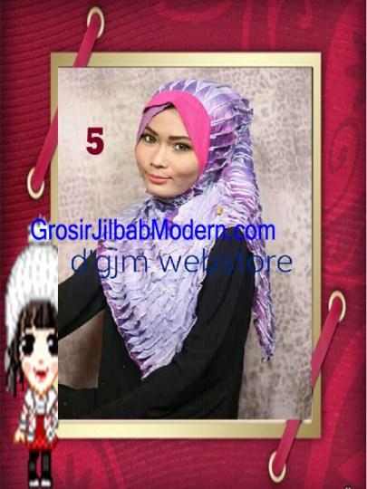 Jilbab Syria Cross Ruffle Ameena No 5