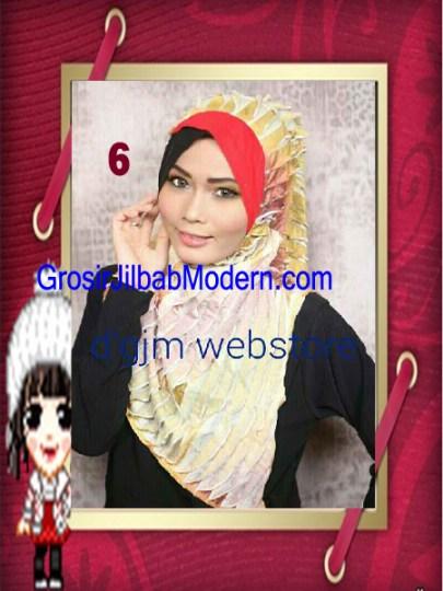Jilbab Syria Cross Ruffle Ameena No 6