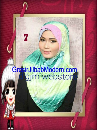 Jilbab Syria Cross Ruffle Ameena No 7