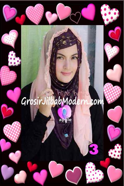 Jilbab Syria Hoodie Aesah Jolie Layer Praktis by Apple Hijab Brand No 3 Salem