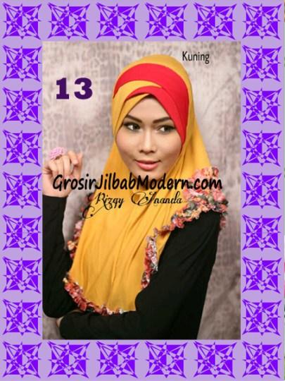 Jilbab Syria Jelita Original by Rizky Ananda No 13 Kuning Kunyit