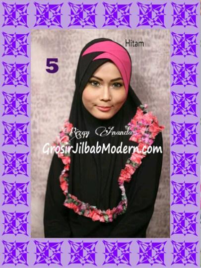 Jilbab Syria Jelita Original by Rizky Ananda No 5 Hitam