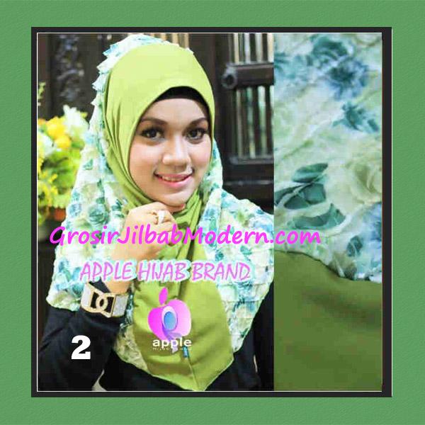Jilbab Syria Sofia Frill Modis by Apple Hijab Brand No 2 Hijau Mint
