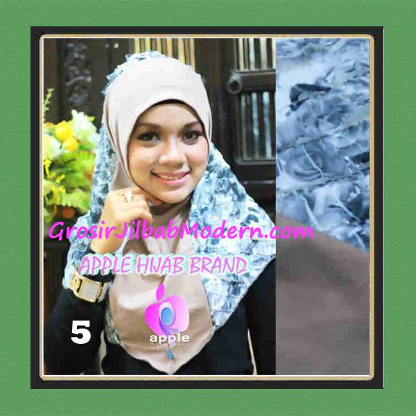 Jilbab Syria Sofia Frill Modis by Apple Hijab Brand No 5 Mocca