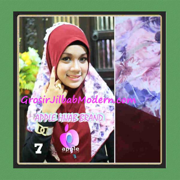 Jilbab Syria Sofia Frill Modis by Apple Hijab Brand No 7 Marun