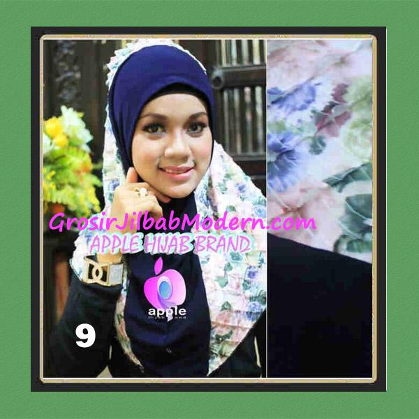 Jilbab Syria Sofia Frill Modis by Apple Hijab Brand No 9 Dongker