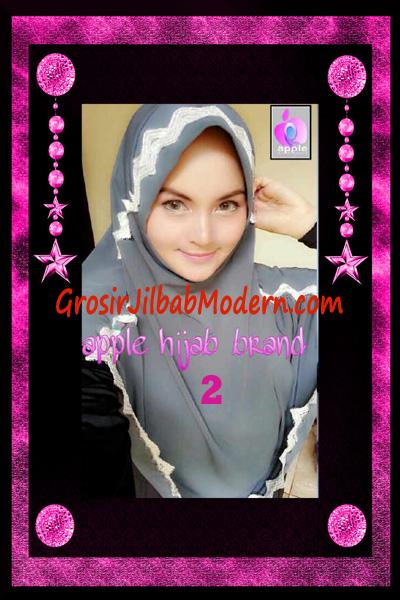 Jilbab Yafee Syar'i Modis by Apple Hijab Brand No 2 Abu