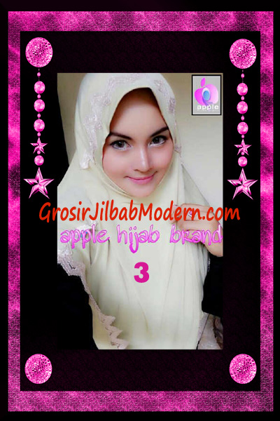 Jilbab Yafee Syar'i Modis by Apple Hijab Brand No 3 Krem Kehijauan