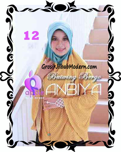 Jilbab Batwing Bergo Anbiya Praktis by Apple Hijab Brand No 12