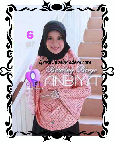 Jilbab Batwing Bergo Anbiya Praktis by Apple Hijab Brand No 6