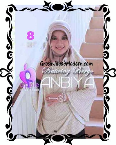 Jilbab Batwing Bergo Anbiya Praktis by Apple Hijab Brand No 8