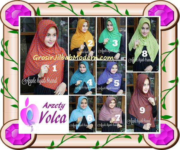 Jilbab Harian Modis Arzety Volca by Apple Hijab Brand Series