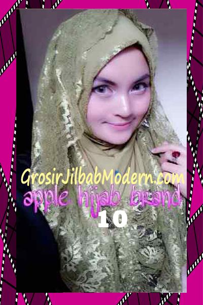 Jilbab Instant Syria Hoodie Layer Maryam by Apple Hijab Brand No 10 Hijau Lumut
