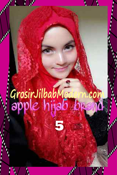 Jilbab Instant Syria Hoodie Layer Maryam by Apple Hijab Brand No 5 Merah
