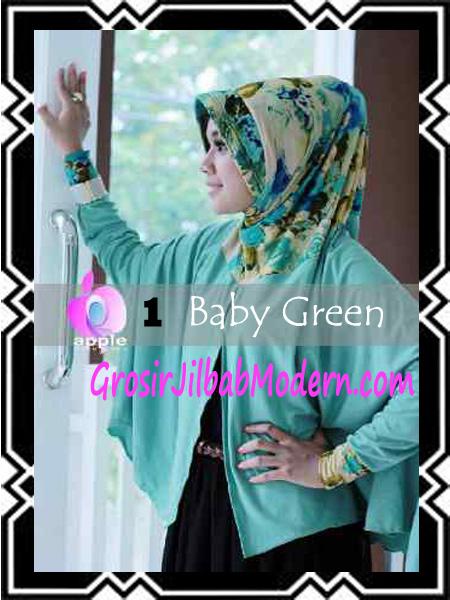Jilbab Lengan Modern Syar'i Al Waqiah by Apple Hijab Brand No 1 Baby Green