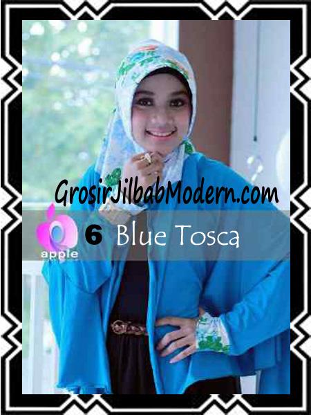 Jilbab Lengan Modern Syar'i Al Waqiah by Apple Hijab Brand No 6 Blue Tosca