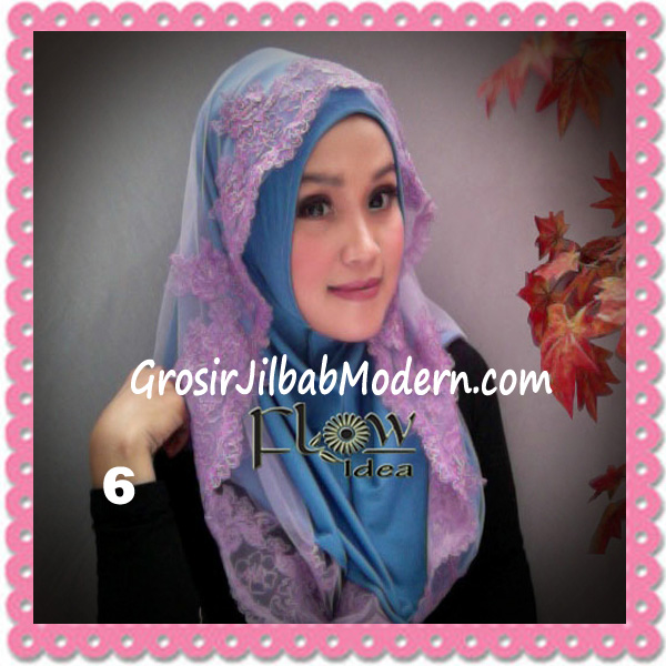 Jilbab Modern Syria Hoodie Tutu Ladiva Original By Flow Idea No 6 Biru Ungu