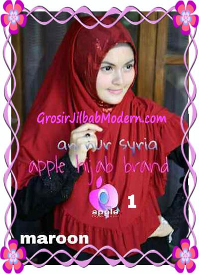 Jilbab Pesta Instant Modern An Nur Syira Sequin by Apple Hijab Brand No 1 Maroon