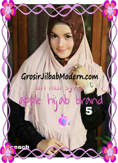 Jilbab Pesta Instant Modern An Nur Syira Sequin by Apple Hijab Brand No 5 Peach