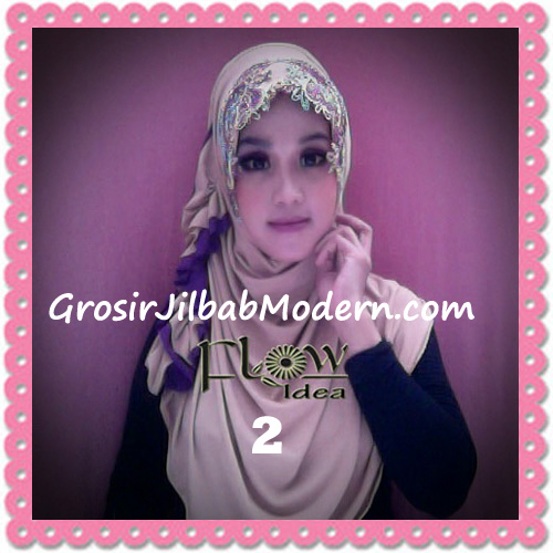 Jilbab Syria Ratu Trendy dan Chic Original by Flow Idea No 2 Coklat Susu