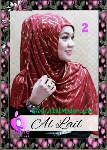 Jilbab Syria Syar'i Modis Al Lail by Apple Hijab Brand No 2 Marun