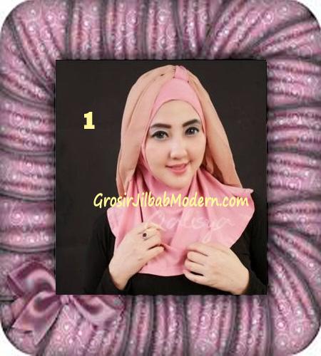 Jilbab Syria Unik Trendy Faustine Original by Qalisya Hijab Brand No 1