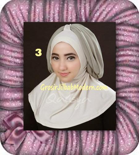 Jilbab Syria Unik Trendy Faustine Original by Qalisya Hijab Brand No 3