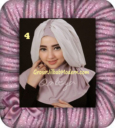 Jilbab Syria Unik Trendy Faustine Original by Qalisya Hijab Brand No 4