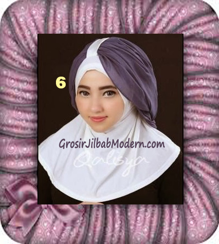 Jilbab Syria Unik Trendy Faustine Original by Qalisya Hijab Brand No 6