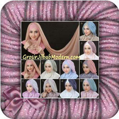 Jilbab Syria Unik Trendy Faustine Original by Qalisya Hijab Brand Series