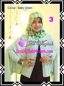 Jilbab Tangan Syar'i Modern Al Waqiah Seri 2 by Apple Hijab Brand No 3 Baby Green