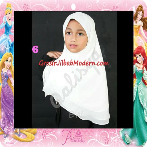 Jilbab Cerutti Cantik Mijwad For Kids Original by Qalisya No 6 Broken White