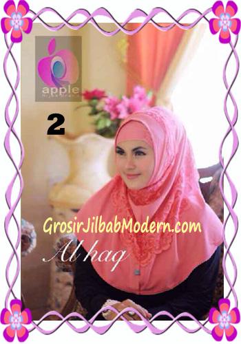 Jilbab Instant Modern Mewah Al Haq by Apple Hijab Brand No 2 Salem