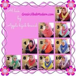 Jilbab Instant Modern Mewah Al Haq by Apple Hijab Brand Series