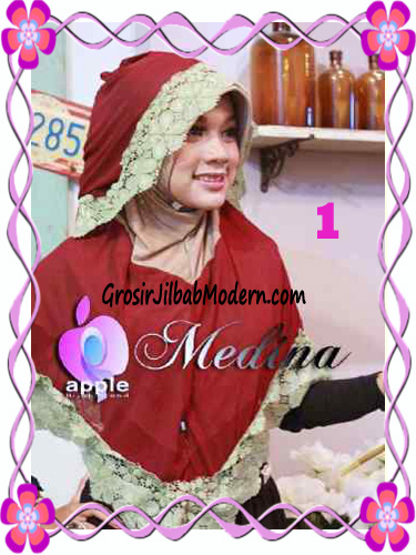 Jilbab Syar'i Medina Model Capuchon Original by Apple Hijab Brand No 1