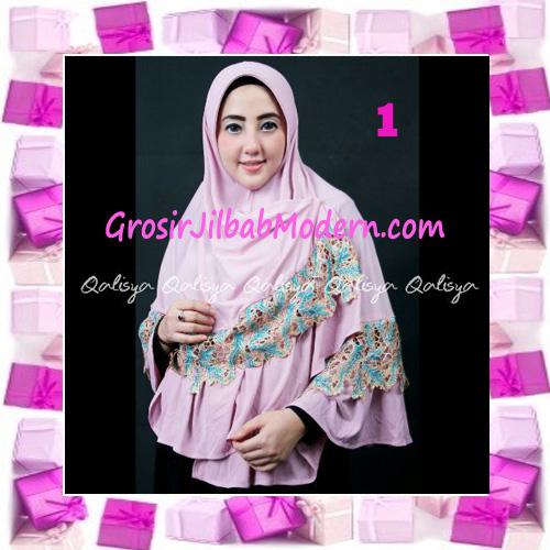 Jilbab Syar'i Qisya Renda 3 Dimensi Original by Qalisya No 1