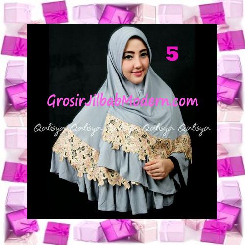 Jilbab Syar'i Qisya Renda 3 Dimensi Original by Qalisya No 5